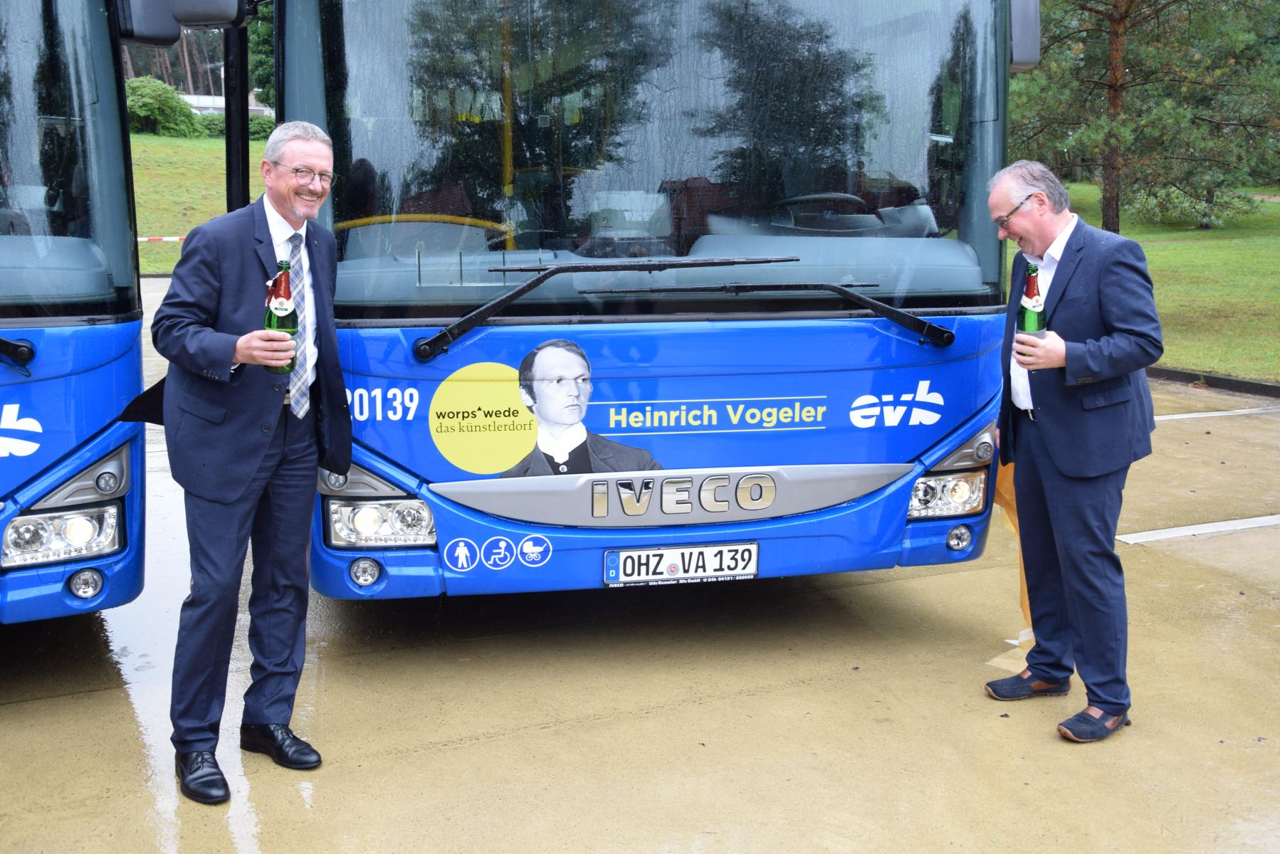 Bustaufe (2020) mit Bürgermeister Stefan Schwenke (Worpswede)