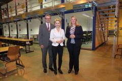 Besuch Bundesverteidigungsministerin Ursula von der Leyen in der Logistikschule (2016) mit MdB Christina Jantz-Herrmann