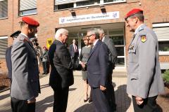 Besuch von Bundespräsident Steinmeier in der Logistikschule der Bundeswehr in Garlstedt (2019)
