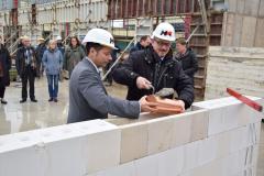 Grundsteinlegung Oberstufenhaus Gymnasium Lilienthal (2020) mit Schulleiter Dr. Ugurcu