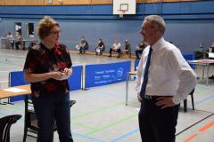 Besuch von Ministerin Behrens bei der Impfaktion in Hambergen (2021)
