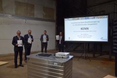 Unterzeichnung KENN (2020) mit Oberbürgermeister Uwe Santjer (Stadt Cuxhaven), Landrat Kai-Uwe Bielefeld (LK Cuxhaven) und Landrat Peter Bohlmann (LK Verden)