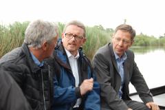 Torfkahnfahrt auf der Wümme (2016) mit Bürgermeister Dr. Carsten Sieling